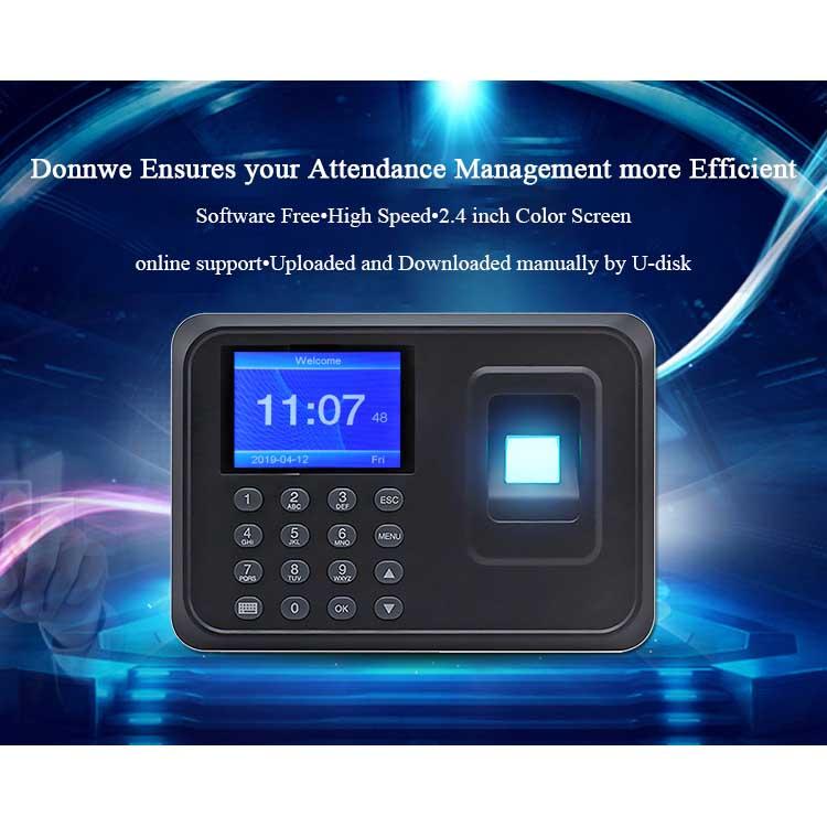 Factory Outlet Face Recognition Biometric Fingerprint Reader Time Recording Attendance Machine
