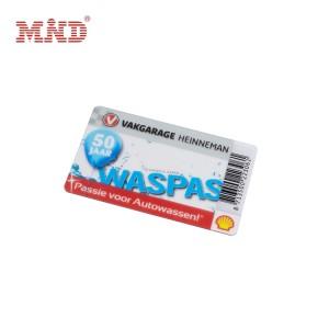 Transparent plastic card
